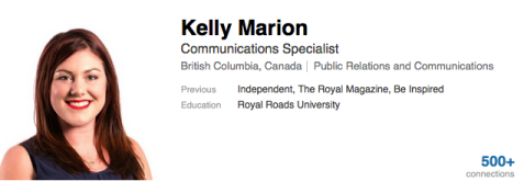 Kelly J Marion LinkedIn