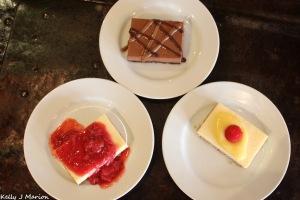 Mobius Coffee & Tea cheesecakes