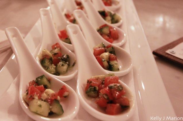 Roma Tomato, bocconcini, cucumber salad