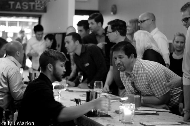 Ordering a drink at Taste Resto & Lounge