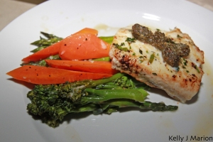 Halibut with Hazelnut Pesto - River's Edge