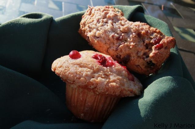 Fresh muffin and scone