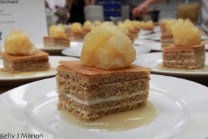 Apple Spice Cake with apple buttercream and apple compote by Pastry Chef Rhonda Viani of WEST (+ Apple Lane Orchard)