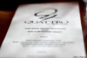Alba White Truffle Luncheon at Quattro