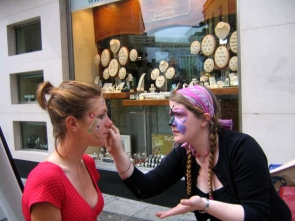Face painting in Galway