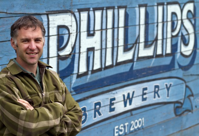 Matt Phillips, owner of Phillips Brewery