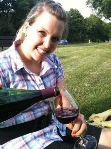 Wine in the park with Amelie