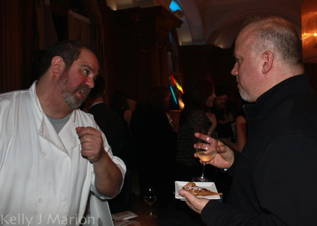 Pied-a-Terre's Chef Audrey explains his dish (Big Night 2012)