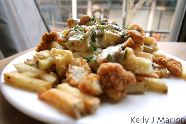 Crispy Chicken and Waffle Poutine - 131 Water Kitchen & Bar