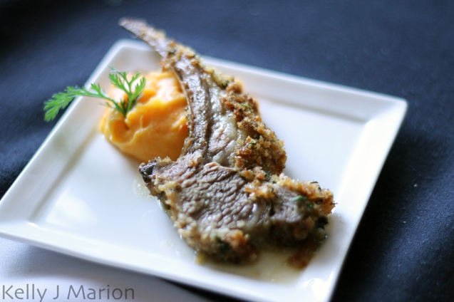 Herb Crusted Lamb Lollipops with Dijon Jus