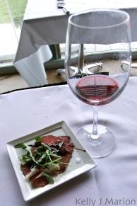 Carpaccio with Pinot Noir