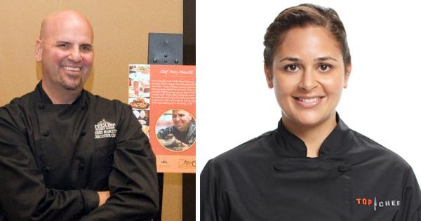 Chef Perry Mascitt and Chef Antonia Lofaso