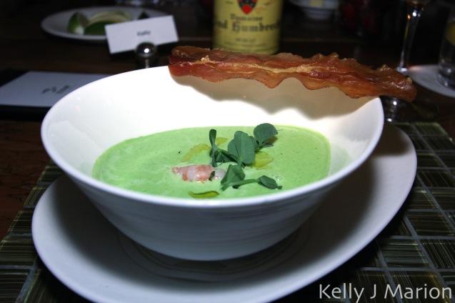 Spring Spot Prawn 'Pea Soup'