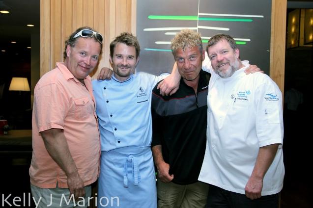 Steve Johansen, Chef Ned Bell, Frank Keitsch, Chef Robert Clark