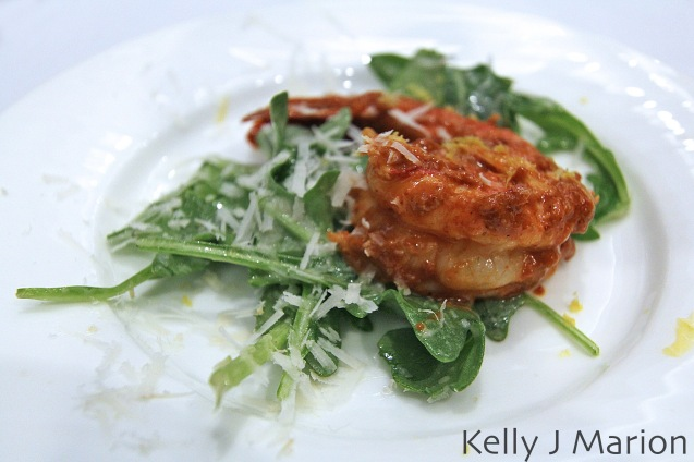Sol Sun Belt Cookery | Harissa Prawns on Arugula Salad