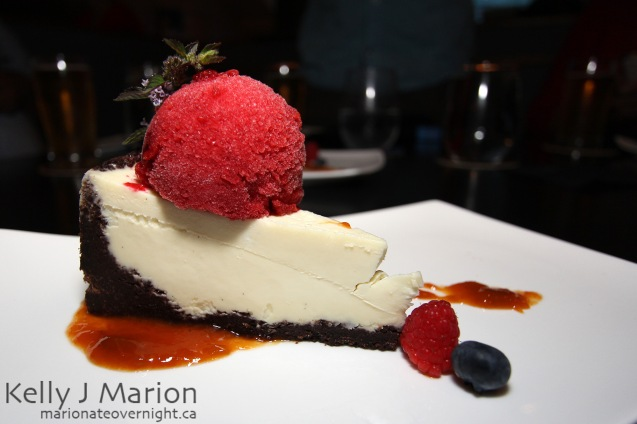 Chevre NY Style Cheesecake with Chocolate Crust