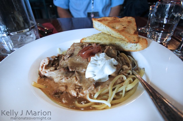 Powder Hounds Restaurant - Beef Stroganoff
