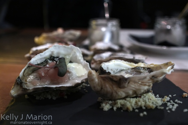 Oyster with Verjus Granite, Tuna Tartar & Horseradish