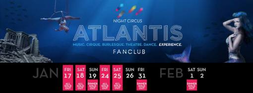 Atlantis Sold Out Schedule