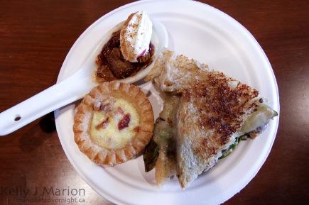 Central Bistro: Quiche Lorraine, Yogurt Parfait, Goat Cheese + Veg on Spelt