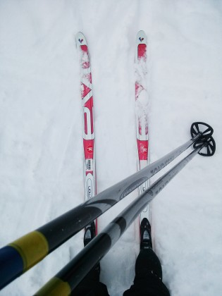 Nordic Skiing (cell phone pic)