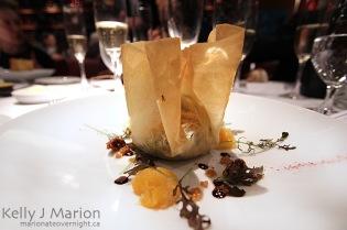 Champagne Wishes Dinner, Winter Squash Pastilla