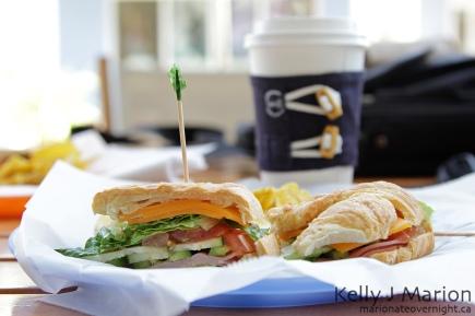 Cafe Del Sol, Croissant Sandwich
