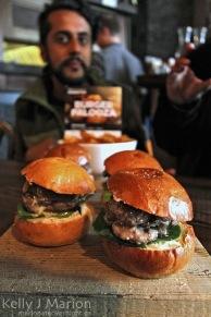 BuckStop's Stuffed Venison Burger