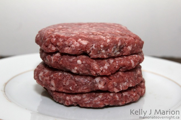 Raw Hamburger Patty